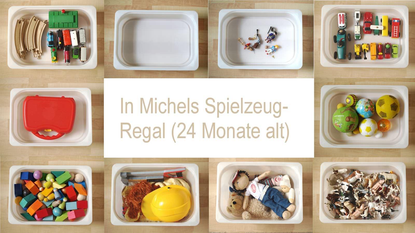 Michels spielzeugregal mit monaten montiminis
