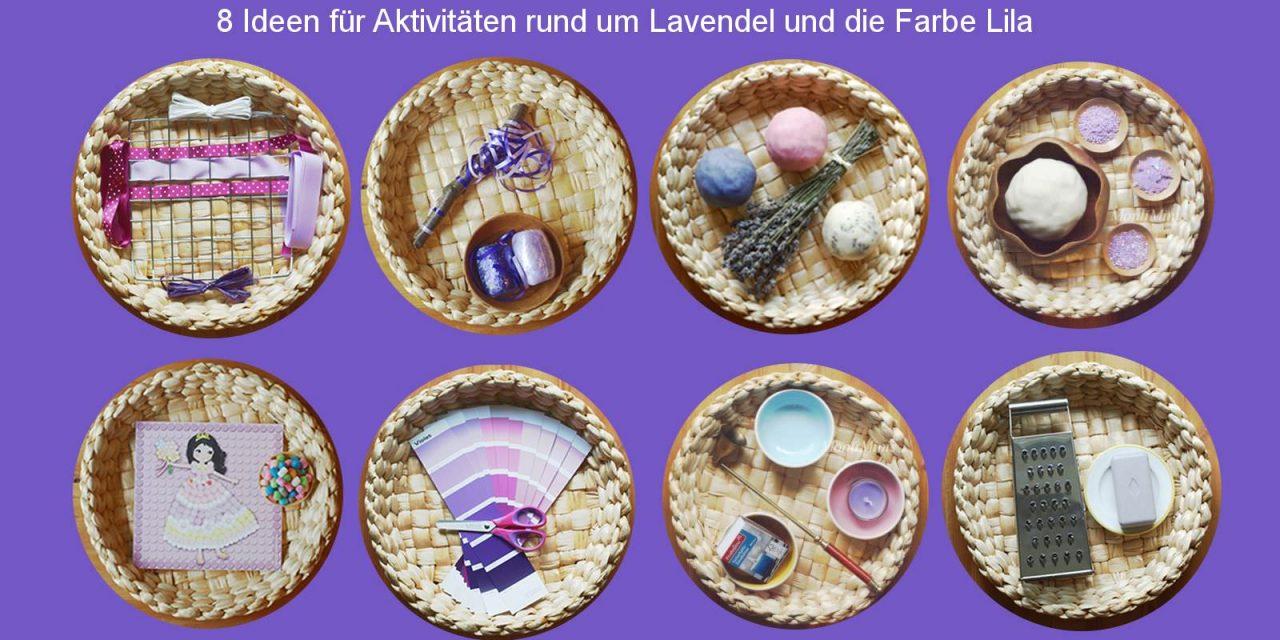 Lila-Lavendel-Themenwoche