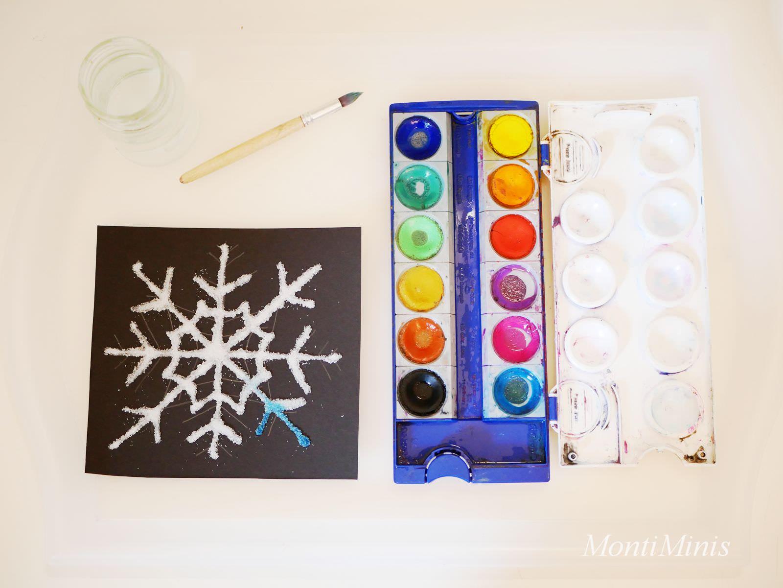 Salzmalerei Bunte Eiskristalle Aus Salz Montessori Blog Montiminis