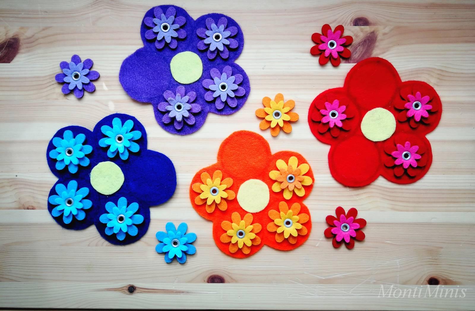 DIY-Farbspiel: Blumen finden und sortieren