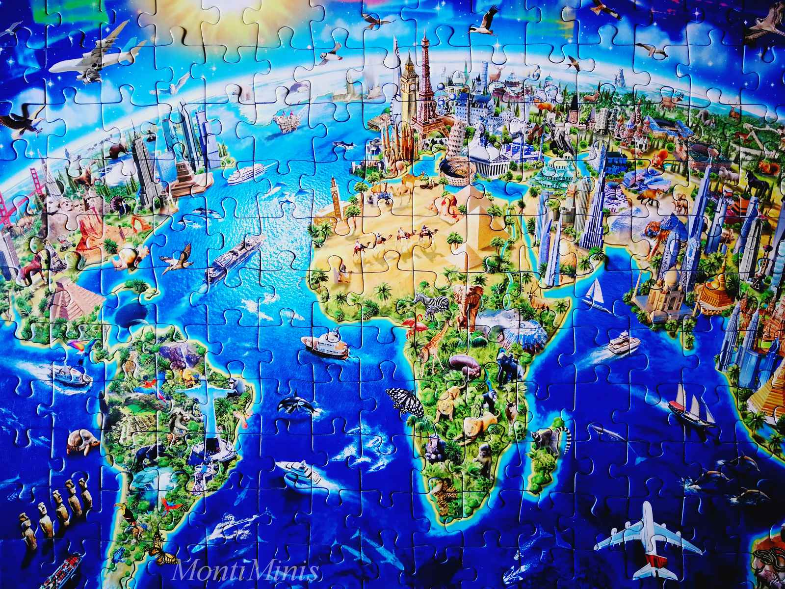 Das große, weite Welt Puzzle| MontiMinis.com