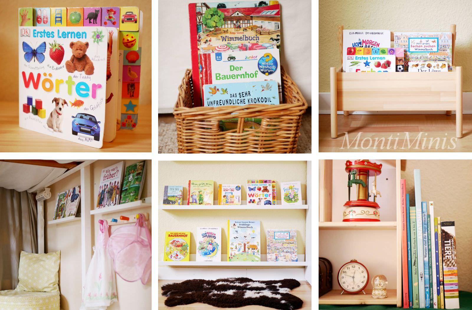 montessori und b cher vom umgang mit b chern und aufbewahrungsideen montiminis. Black Bedroom Furniture Sets. Home Design Ideas