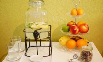 Ein sommerlicher Snackbereich für Kinder