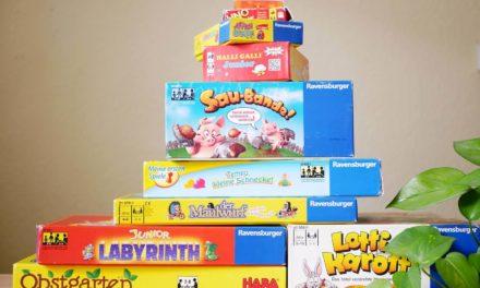 Unsere Lieblings-Gesellschaftsspiele für Kinder ab 2, 3-4 und 5 Jahren