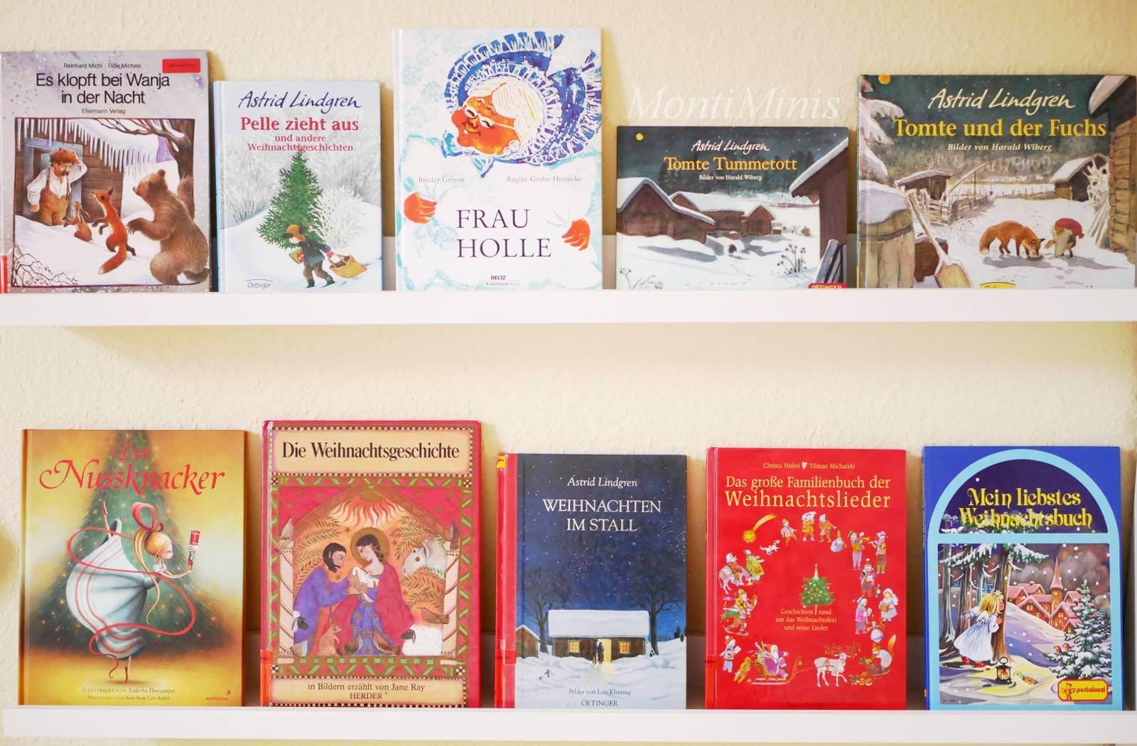 Unsere Lieblings-Weihnachtsbücher, Kinderbücher, Kinderbuchtipps, Weihnachtszeit mit Kindern, Lesen mit Kindern, Montessori Bücherregal, Montessori Kinderzimmer | MontiMinis.com