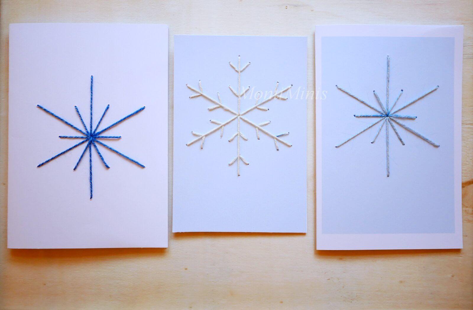 Sticken mit Kindern: Weihnachtskarten (inkl.Druckvorlage)