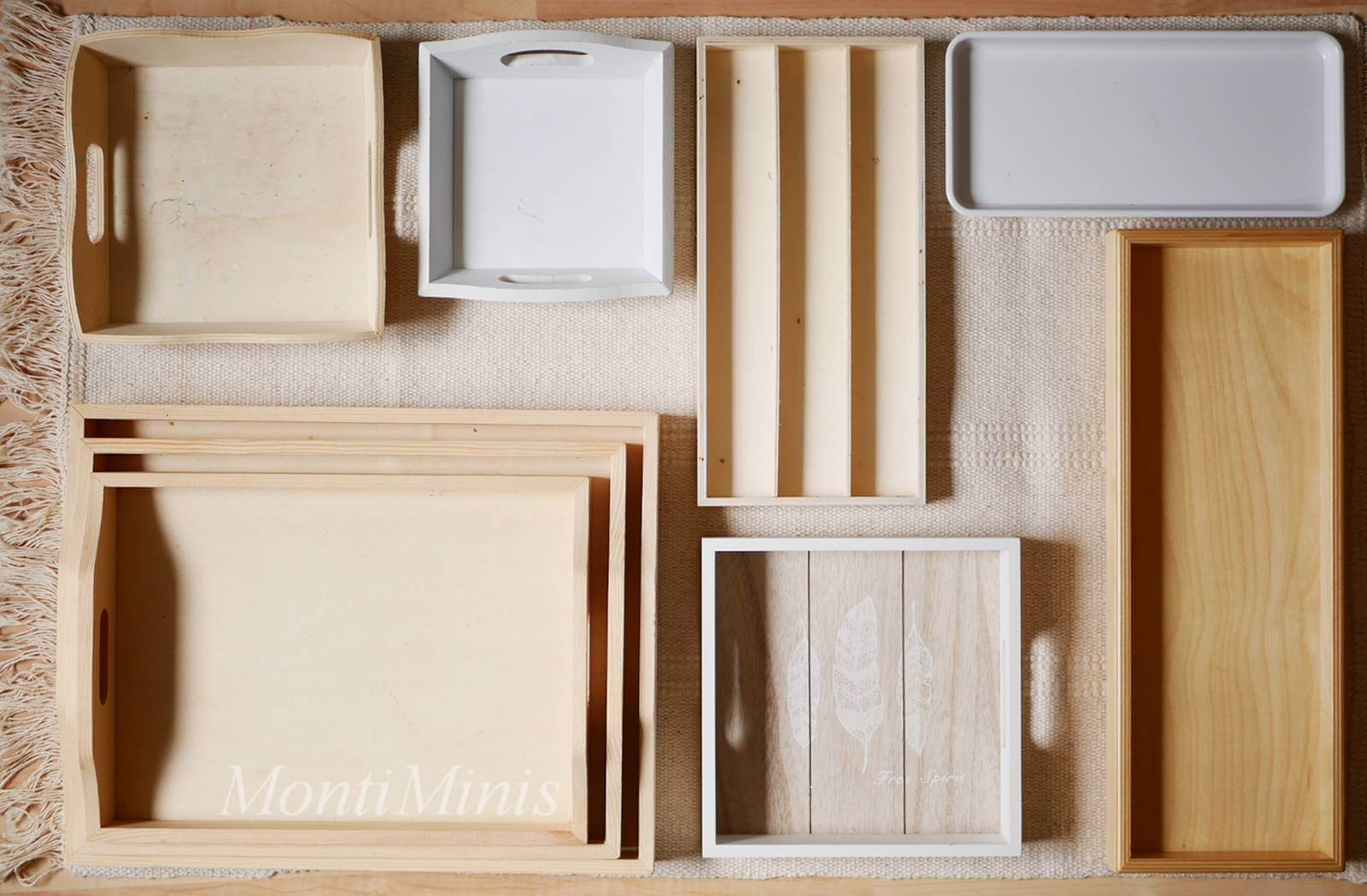 Wo bekomme ich Montessori Tabletts für zu Hause?