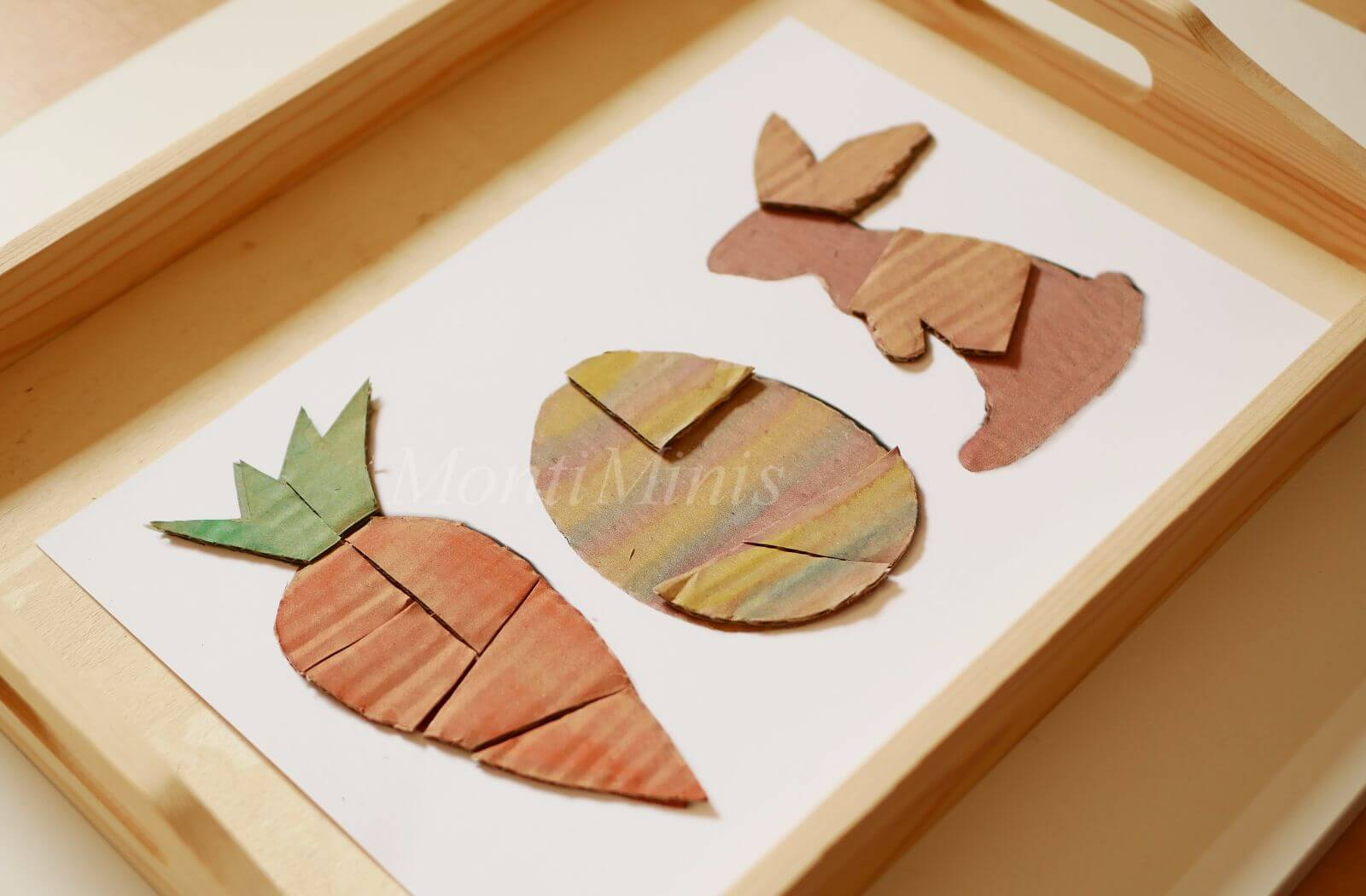 Upcycling-Spielidee: DIY-Oster-Puzzle aus Pappe