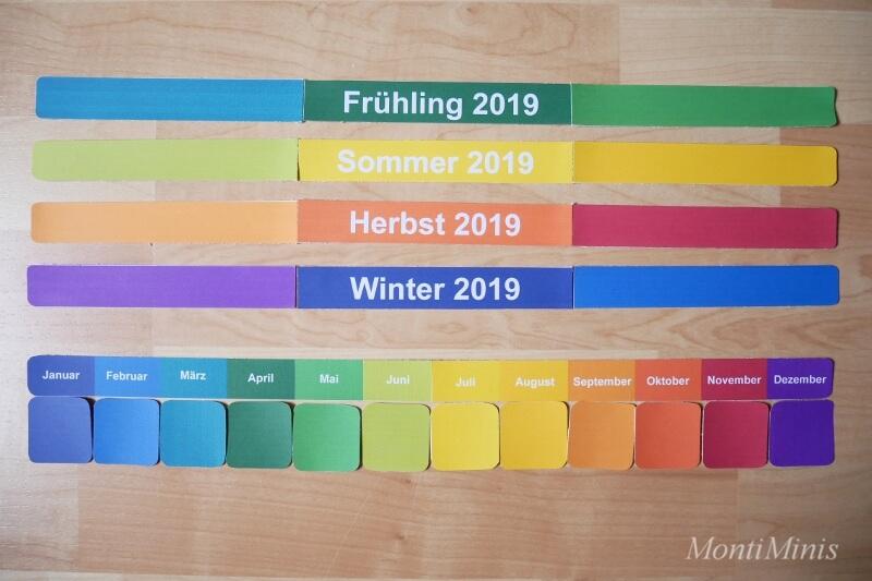 Der MontiMinis Kalender 2019_Montessori Kalender für Kinder_DIY Kalender_Montessori Blog
