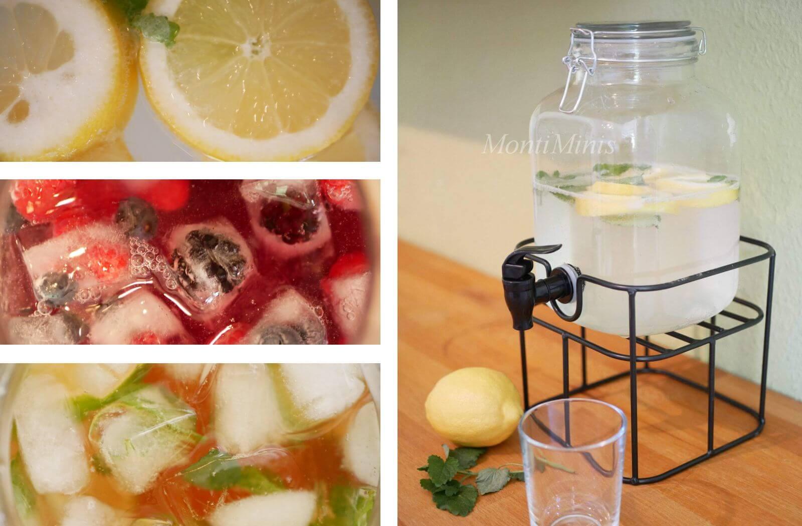 Unserere liebsten Sommer-Durstlöscher zum Selbermachen mit Kindern (zuckerfrei + supereinfach)