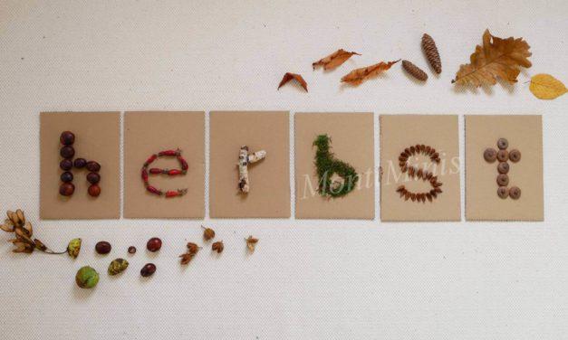 DIY-Fühlbuchstaben aus Naturmaterialien nach Montessori
