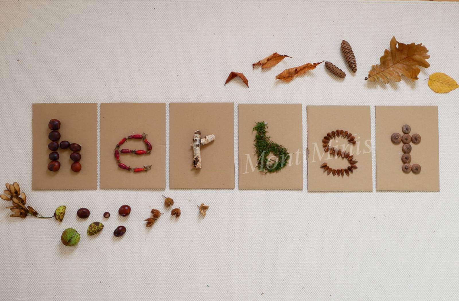 Diy Fühlbuchstaben Aus Naturmaterialien Nach Montessori