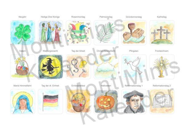 MontiMinis Montessori Kinder Kalender Familienplaner Aktivitäten 2_ Kalender für Kinder zum Ausdrucken