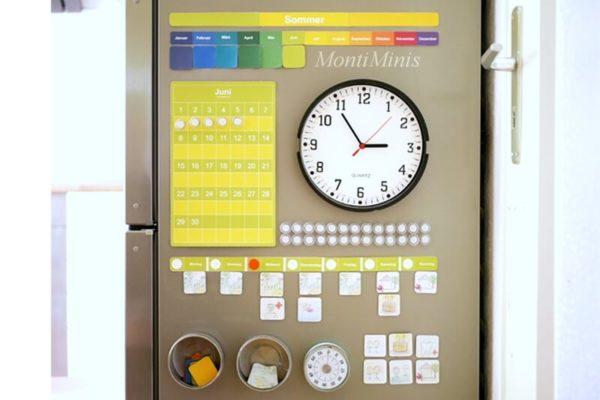 MontiMinis Kalender_ Kalender für Kinder, Kinderkalender, Zeit verstehen, Montessori, Montiminis