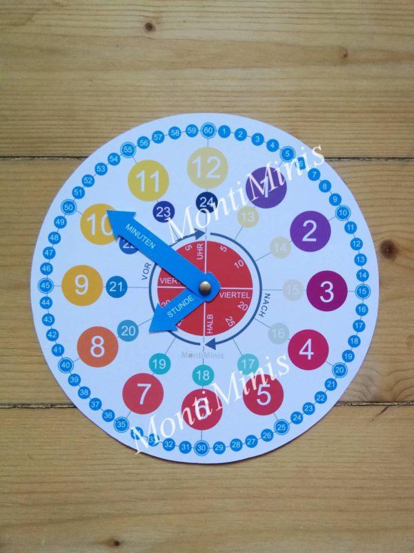 Die MontiMinis Lernuhr - Montessori Uhr - Kinderuhr - Spielend Zeit verstehen - Uhr für Kinder - DIY Uhr