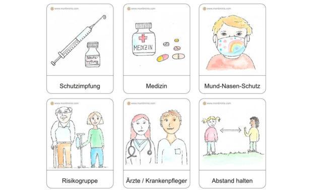 Mit Kindern über Corona sprechen – Poster und Lernkarten (kostenloser Download)