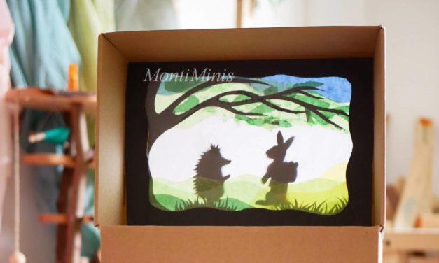 Upcycling-Bastelidee: Ein buntes DIY-Schattentheater aus Karton