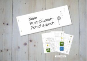 Löwenzahn-Pusteblumen-Forscherbuch für Kinder, Lernmaterial, Montessori, Unterrrichtsidee, MontiMinis