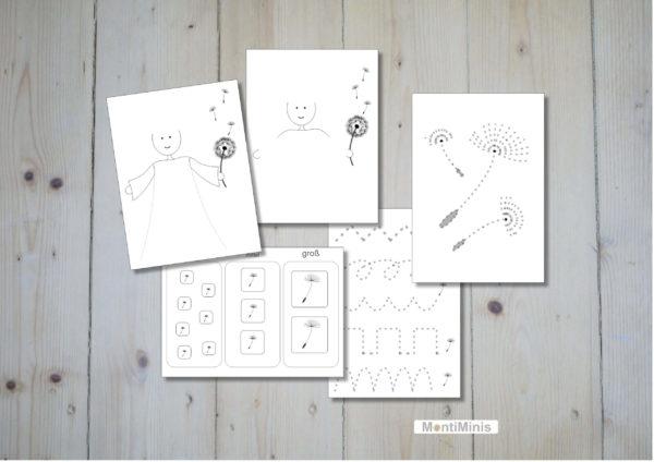 Pusteblumen-Löwenzahn-Vorschul-Set-Spielideen-Montessori-montiminis