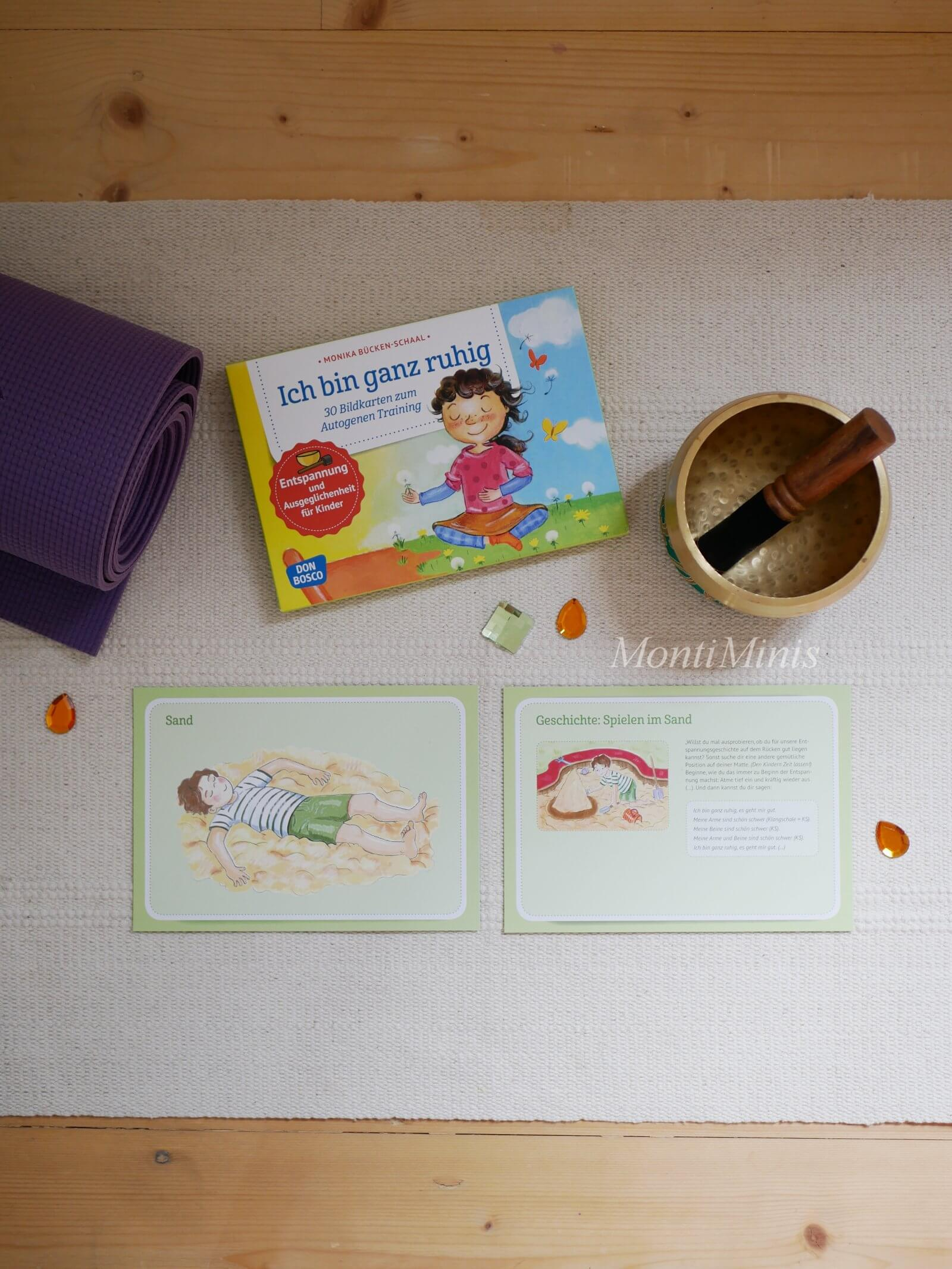 Autogenes Training mit Kindern, Montessori Zuhause: Eine Ruheoase für Kinder zum Lesen und Entspannen, Achtsamkeit, Kinderyoga, Buddha Board, Waldorf - montiminis.com