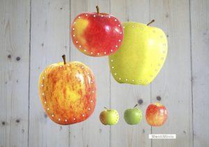 Apfelsorten, Apfel, Fädelkarten, Montessori, Feinmotorik, Sachunterricht, Unterrichtsmaterial