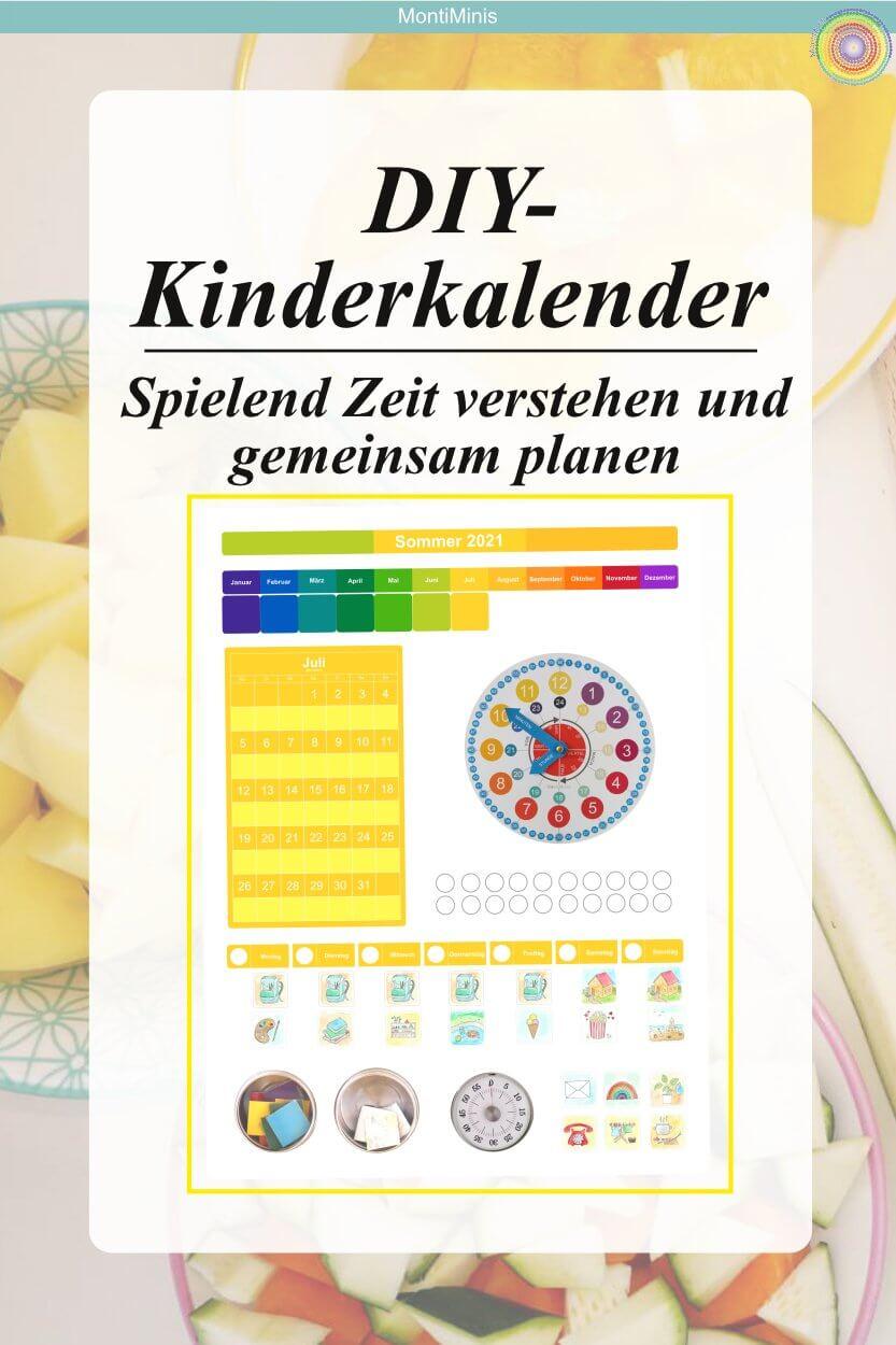 MontiMinis Kalender_Kinderkalender_Zeit verstehen, Lernkalender, Familienplaner, Montessori, Waldorf
