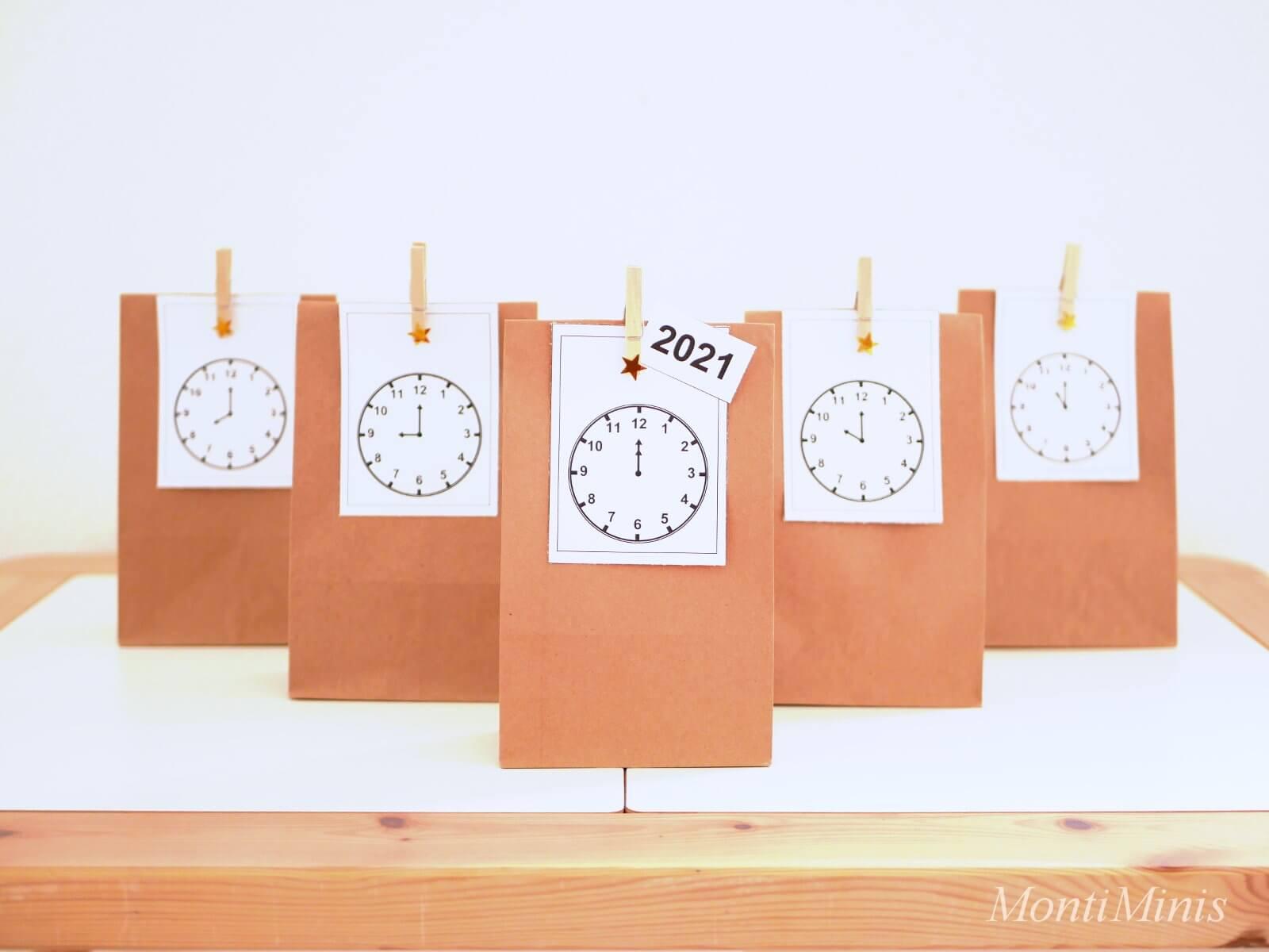 Silvester Countdown-Tüten & Das MontiMinis Silvester Paket (Gratis Download)