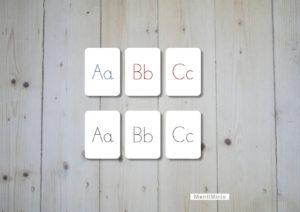 ABC-Lernkarten-Flashcards-Groß- & Kleinbuchstabe)-Montessori-MontiMinis