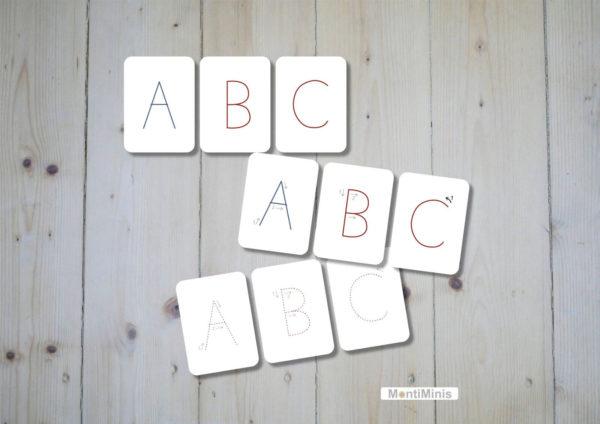 ABC-Lernkarten-Flashcards-Großbuchstaben-Montessori-MontiMinis
