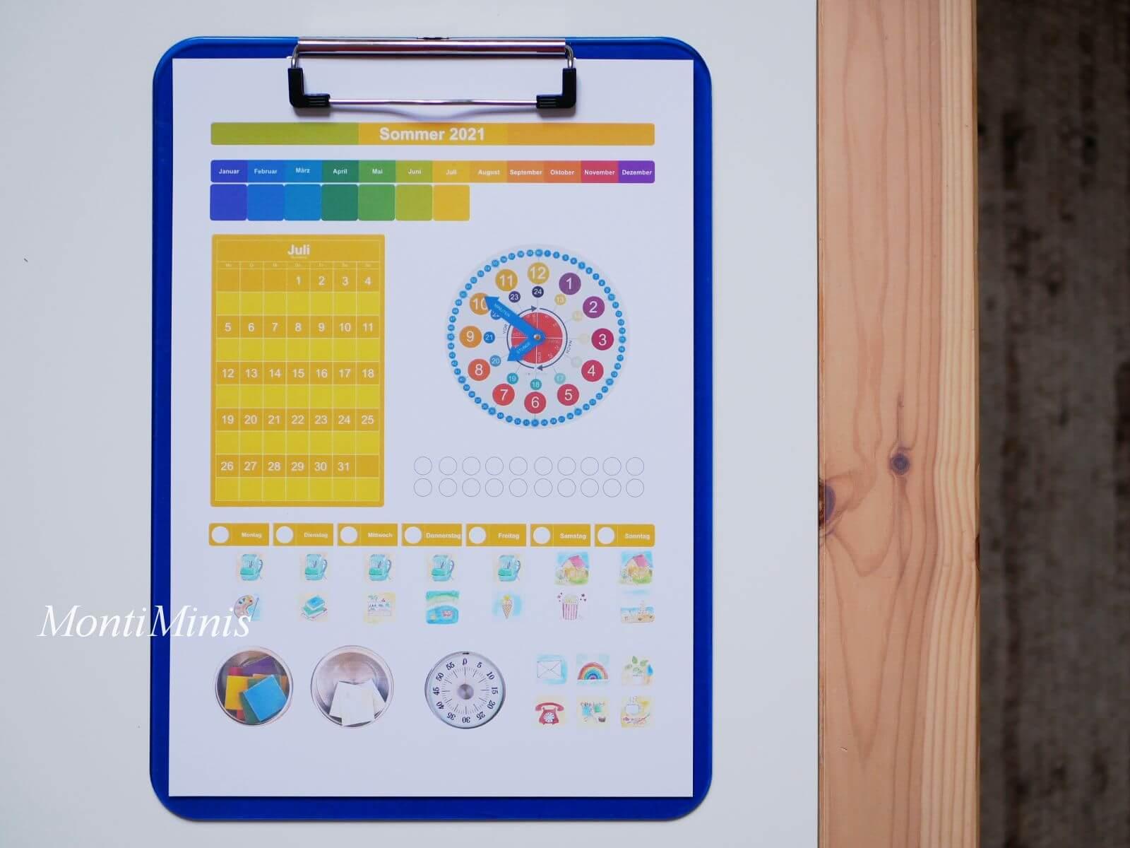 Kalender für Kinder-Frag die Maus Kalender, Kommt in die Felder, Wiesen und Wälder, MontiMinis Baumkalender, Wetterbaum, Rund um die Welt Kalender, MontiMinis Kalender