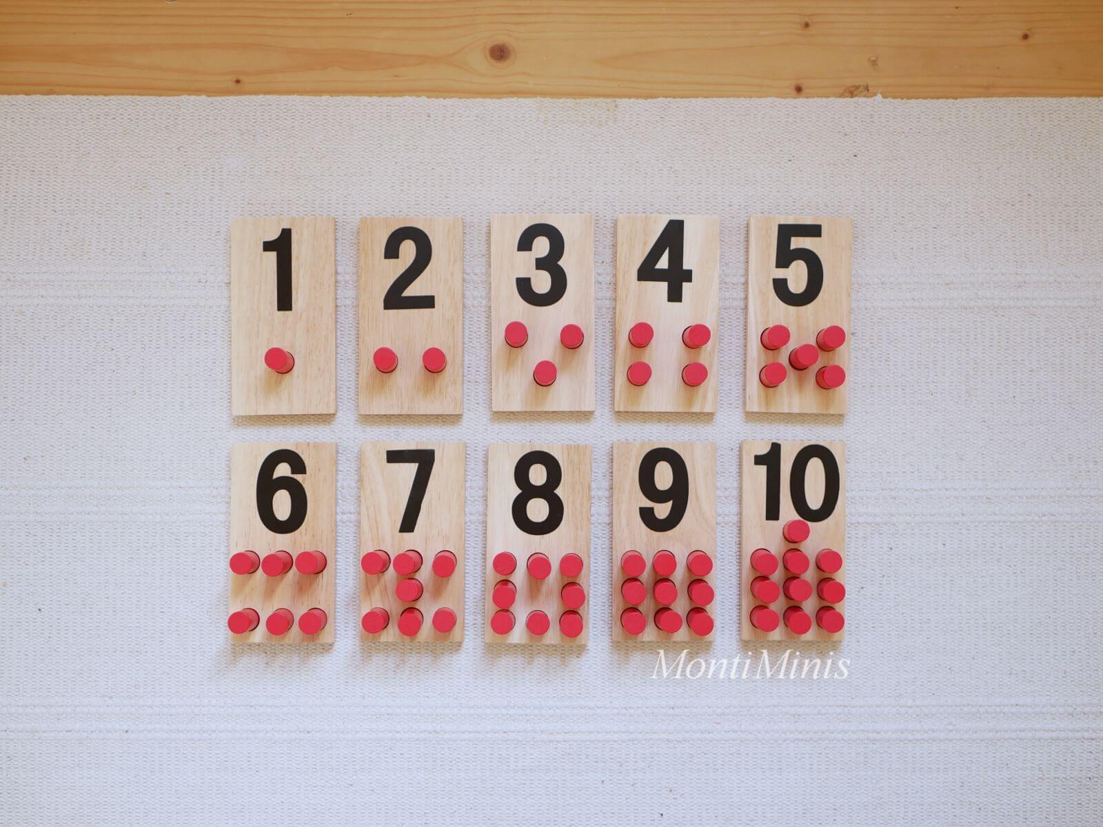 Mathematik-Aktionstablett: Zahlenstecktafeln-aus-Holz-Mathe-Spielideen-Spielerisch lernen, Montessori Zuhause, Unterrichtsmaterial, Kindergarten, Vorschule & Grundschule-montiminis.com