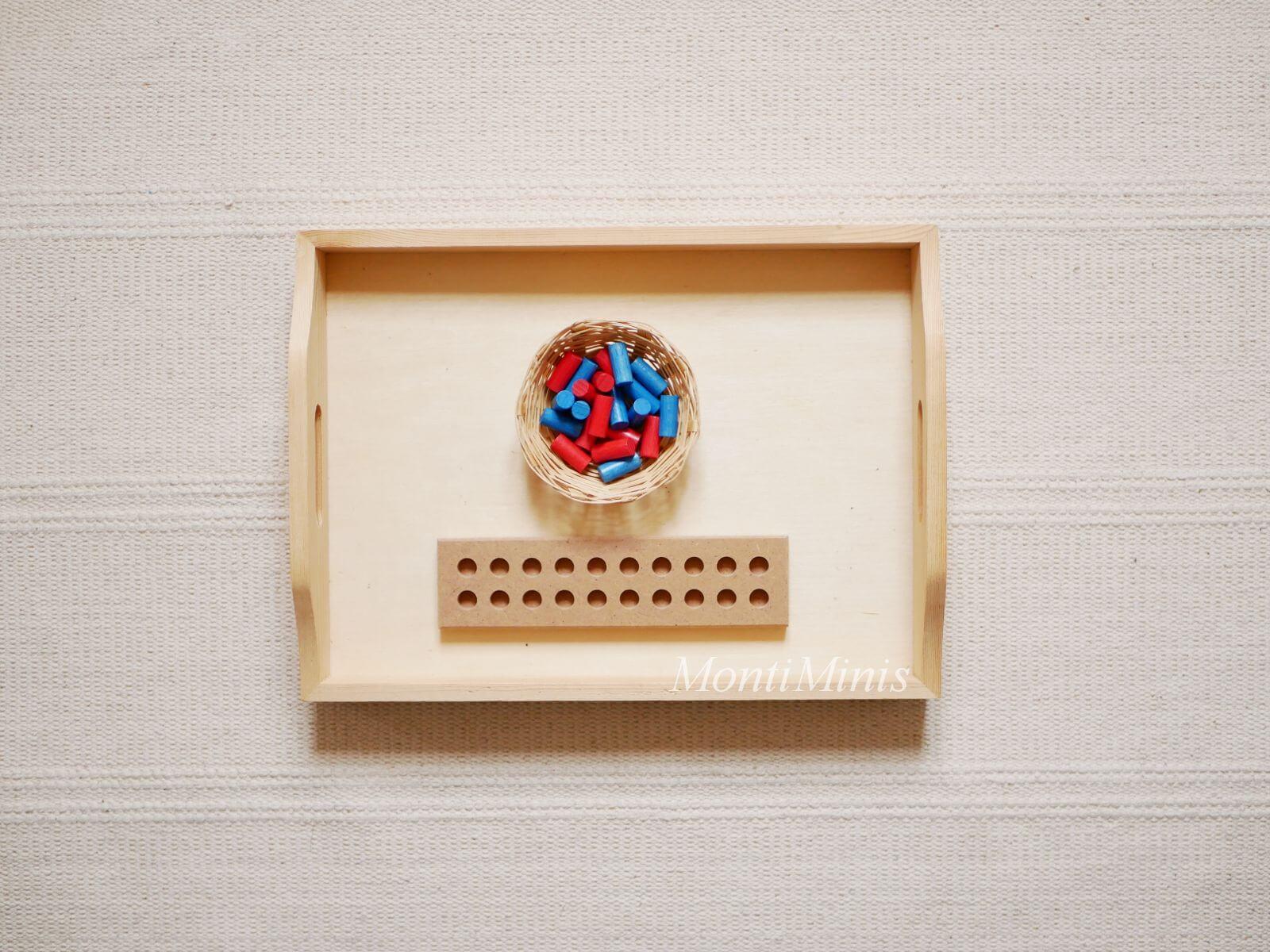 Mathematik-Aktionstablett: Zwanziger Steckbrett-Mathe-Spielideen-Spielerisch lernen, Montessori Zuhause, Unterrichtsmaterial, Kindergarten, Vorschule & Grundschule-montiminis.com