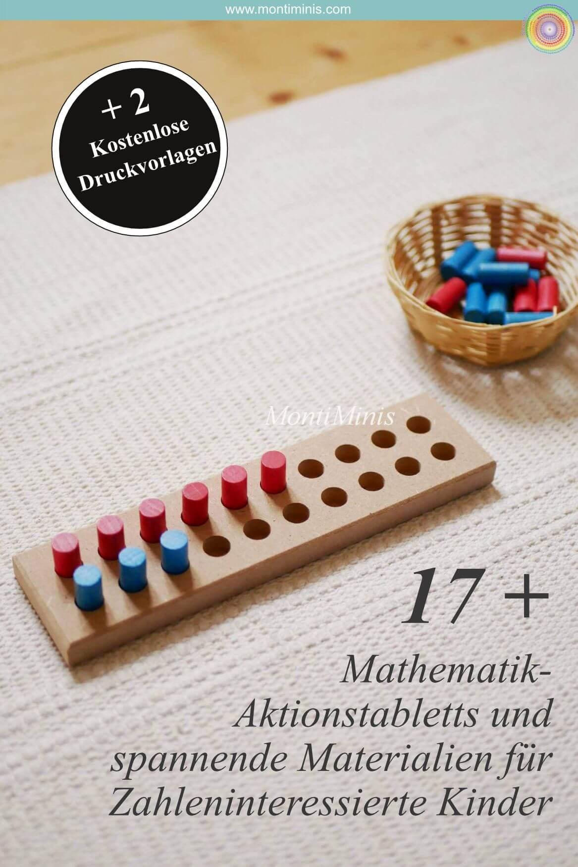 17 + Mathematik Aktionstabletts und spannende Materialien für Zahlenbegeisterte Kinder in Kindergarten, Vorschule und Schule. Plus zwei kostenlose Druckvorlagen zum Herunterladen bei montiminis.com